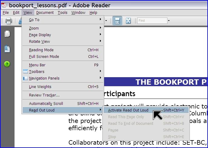 adobe reader - wiele nowych możliwości - czytanie głosowe